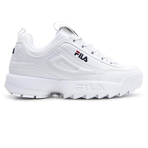 Sneakersy damskie Fila bez wzorów sportowe na platformie w