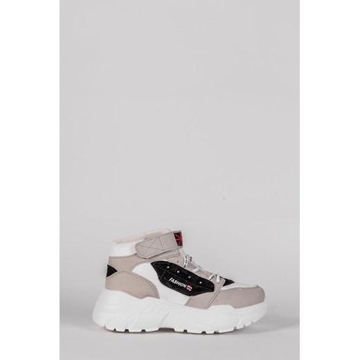 Sneakersy damskie wiązane bez wzorów