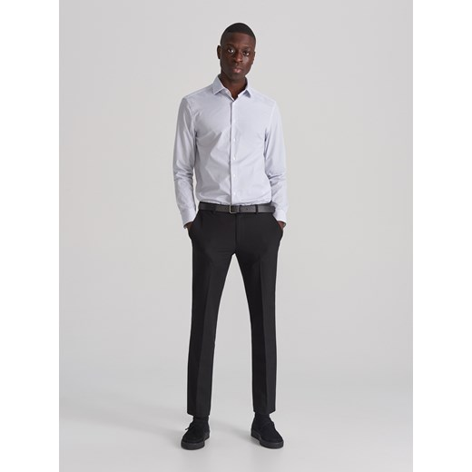 Koszula męska biała Reserved z długim rękawem casual w Domodi  zTr9r