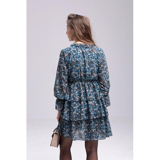 Sukienka mini wielokolorowa Odzież Damska AC wielokolorowy KFZG