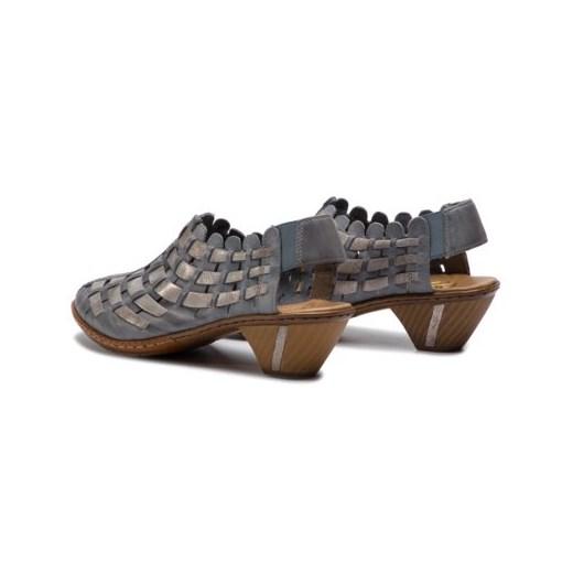 Sandały damskie Rieker bez wzorów luJx6