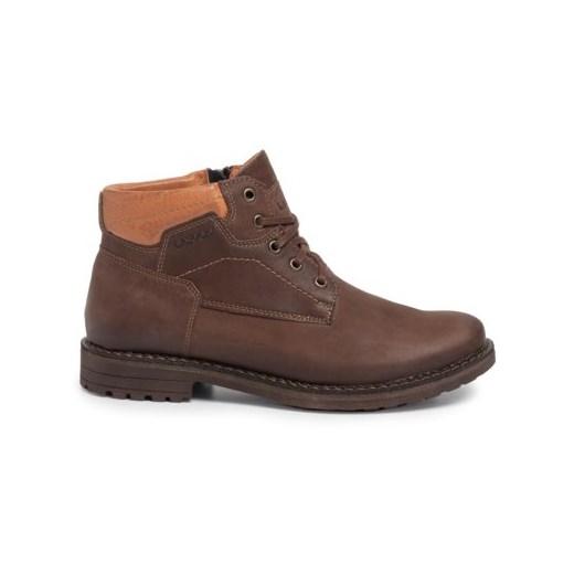 Buty zimowe męskie Lasocki For Men sznurowane militarne F313X