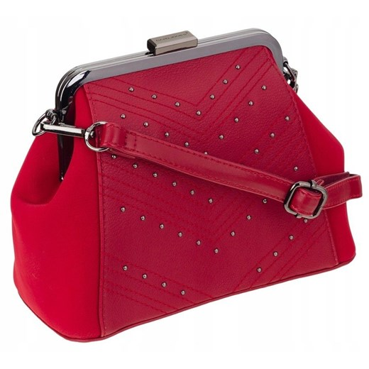 KOPERTÓWKA DAVID JONES CLUTCH BAG SKÓRA EKO RED  David Jones  torebki-skorzane.pl