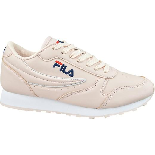 Buty sportowe damskie Fila sneakersy młodzieżowe skórzane sznurowane gładkie