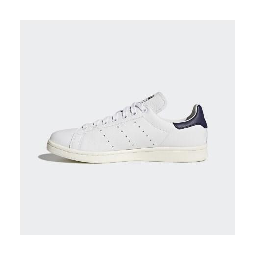 Buty sportowe męskie Adidas białe wiązane skórzane 4wLUd