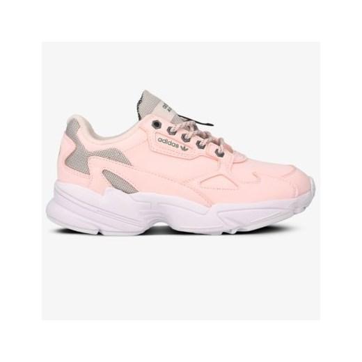 Buty sportowe damskie różowe Adidas sneakersy bez wzorów w