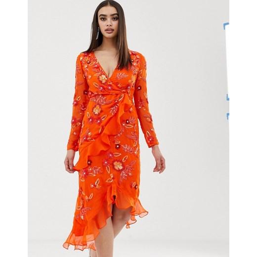 Sukienka Odzież Damska PO pomarańczowy NYRA