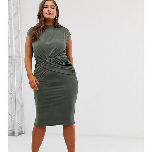 Sukienka Asos Odzież Damska RW zielony KDDM