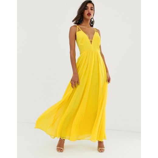 Sukienka Asos na ramiączkach Odzież Damska LT żółty OBAM