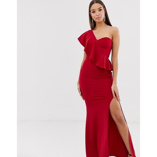 Sukienka Club L London Odzież Damska GO czerwony HGXB