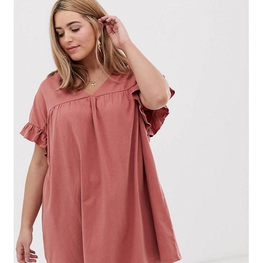 Sukienka Asos Odzież Damska XZ różowy AMSO