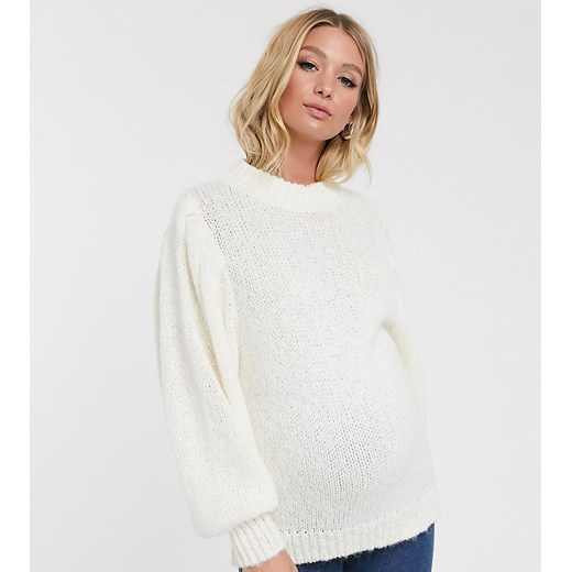 Sweter damski Asos Odzież Damska YW biały MSUX