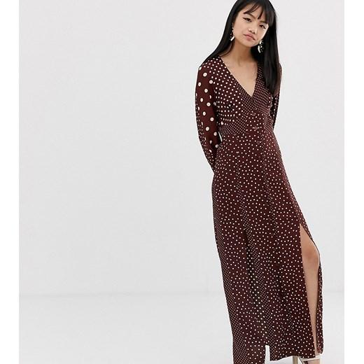 Sukienka Miss Selfridge Petite Odzież Damska QZ brązowy FTWI
