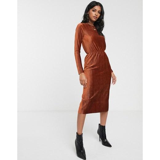 Sukienka Glamorous Odzież Damska CO brązowy OJMF
