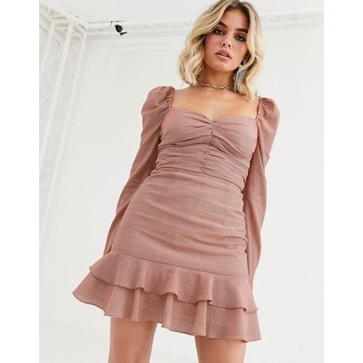 Sukienka Vestire Odzież Damska GO różowy CODN
