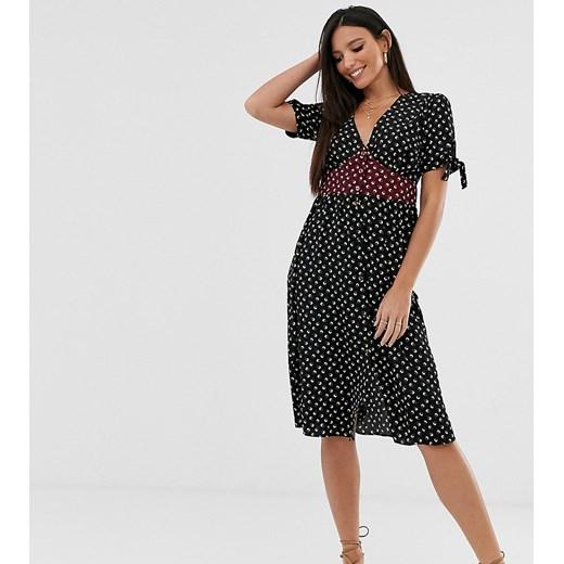 Sukienka Brave Soul Tall z krótkim rękawem prosta czarna Odzież Damska IR czarny HETQ