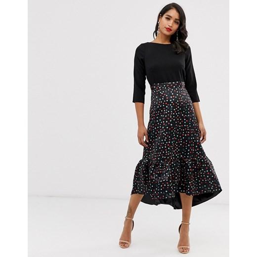 Sukienka Closet London z okrągłym dekoltem midi Odzież Damska MQ czarny JAAR