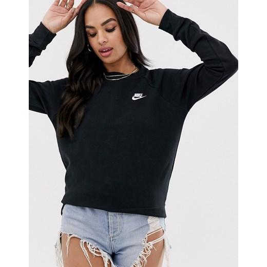 Nike – Club – Bordowa bluza dresowa z okrągłym dekoltem