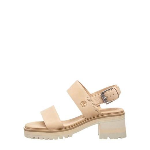 Sandały damskie Timberland gładkie skórzane z klamrą casual