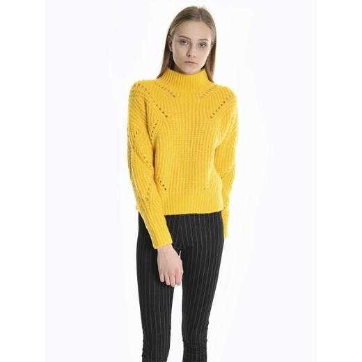 Sweter damski Gate żółty na zimę Odzież Damska TB żółty LBDL