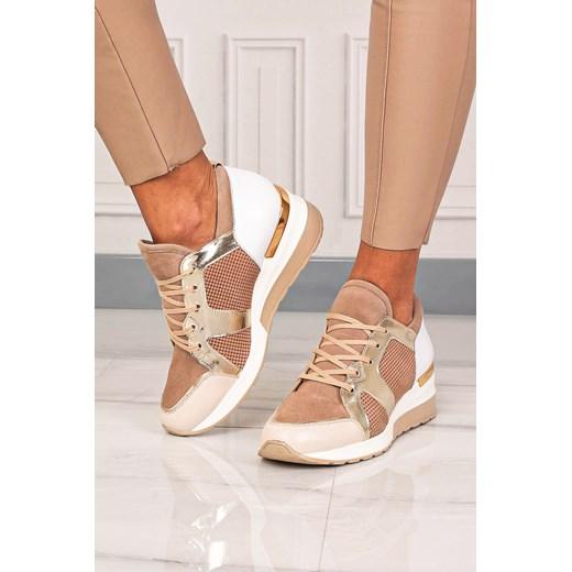 Buty sportowe damskie Kati sneakersy młodzieżowe sznurowane