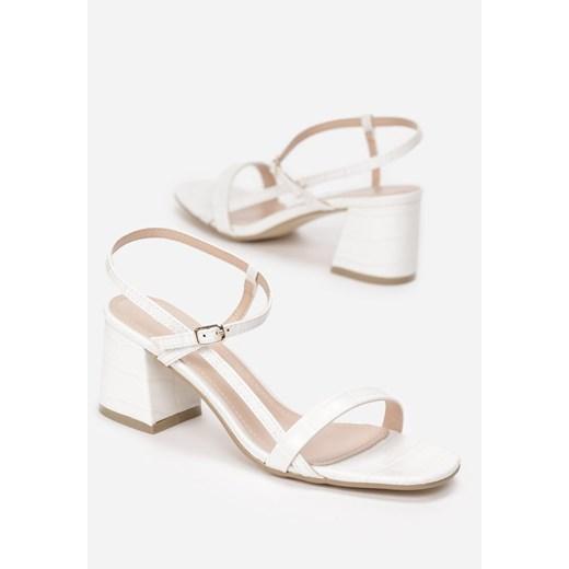 Białe sandały damskie Renee eleganckie w Domodi