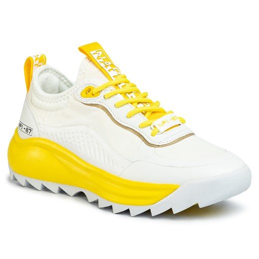 Sneakersy NAPAPIJRI - Flint NP0A4ET80 White/Yellow 1D1