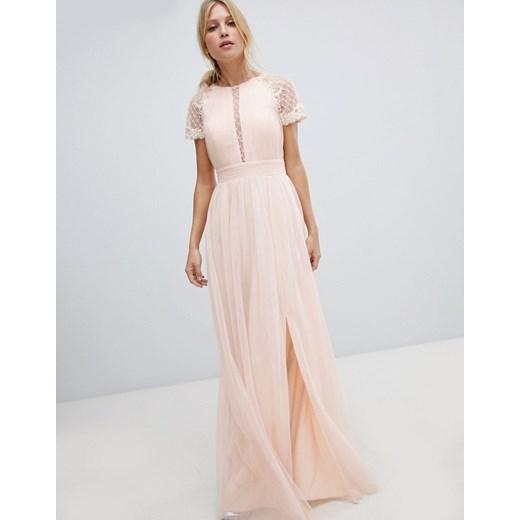Sukienka Little Mistress Odzież Damska UL różowy LIGA