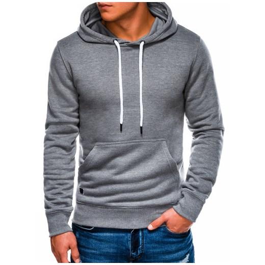 Bluza męska szara Ombre w stylu młodzieżowym w Domodi