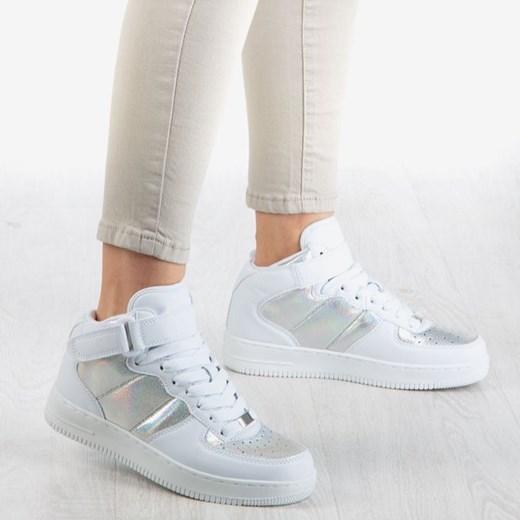 Buty sportowe damskie Royalfashion.pl sznurowane bez wzorów1