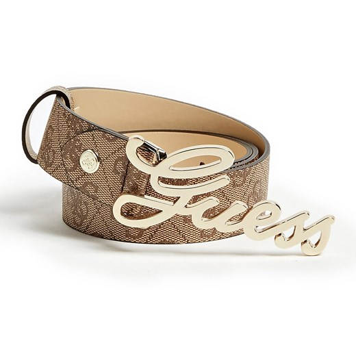 Guess brązowy pasek Digital Logo Print Belt  Guess  Differenta.pl