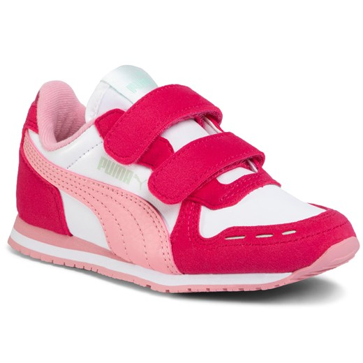 Sneakersy PUMA - Cabana Racer Sl V Ps 360732 81 Puma White/Bright Rose/Peony