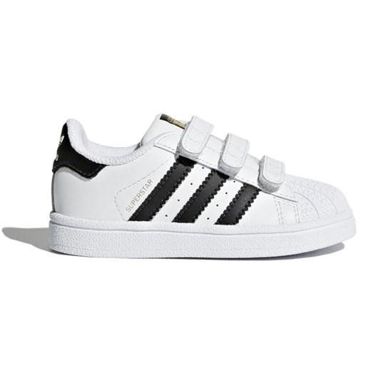 Trampki dziecięce białe Adidas skórzane w Domodi