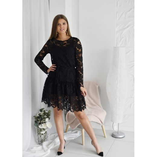 Sukienka Megi koronka Fason Odzież Damska MG czarny LSQM