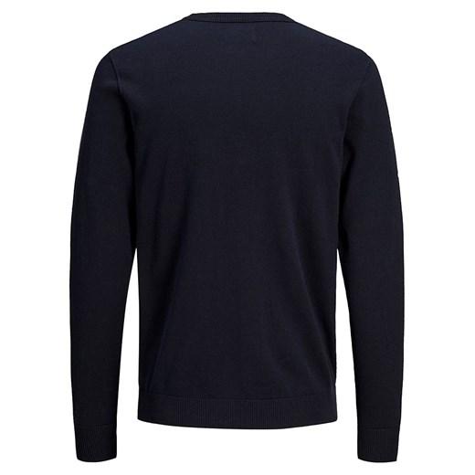 Czarny sweter męski Jack & Jones bawełniany rnAUh