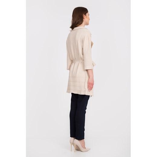 Sweter damski Quiosque gładki z dekoltem v Odzież Damska GK beżowy JBDE