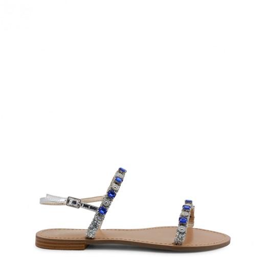Sandały damskie wielokolorowe Versace Jeans z klamrą casualowe płaskie Mq3m7