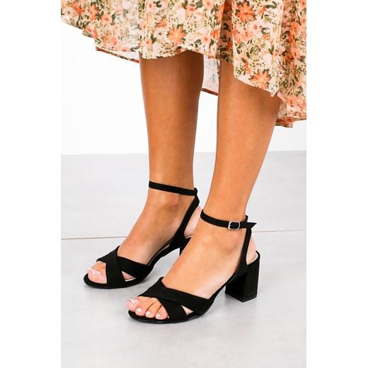 Sandały damskie Casu gładkie skórzane 5KfDh