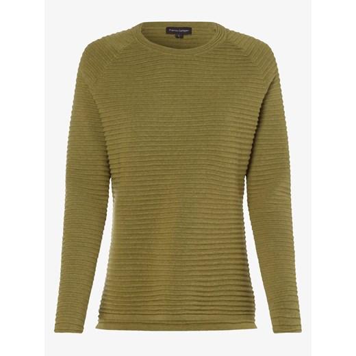Sweter damski Franco Callegari z okrągłym dekoltem z dzianiny Odzież Damska DD zielony YWMG