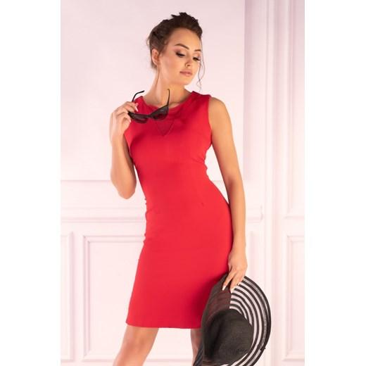 Sukienka Merribel z okrągłym dekoltem Odzież Damska MR pomarańczowy MHHA