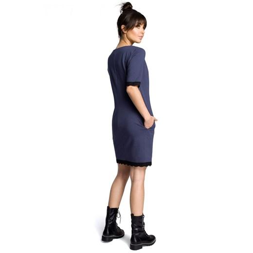 Sukienka Be bawełniana Odzież Damska GF niebieski WZGT