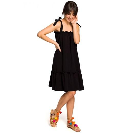 Sukienka Be na ramiączkach Odzież Damska TZ czarny YMLQ