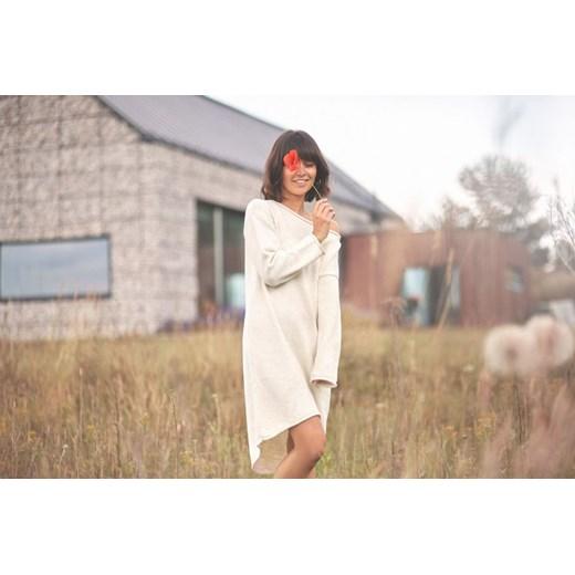 Sukienka Be Knit mini z dekoltem w łódkę. 3uGsi