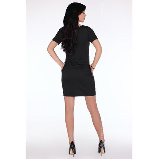 Sukienka Merribel z bawełny z krótkimi rękawami mini Odzież Damska VC szary APLE