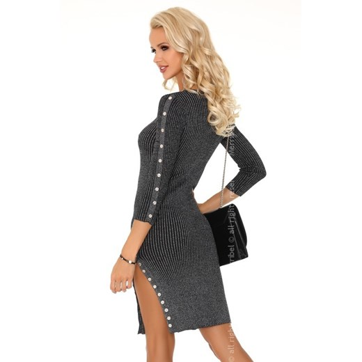 Sukienka Merribel bawełniana Odzież Damska VY szary YQTJ