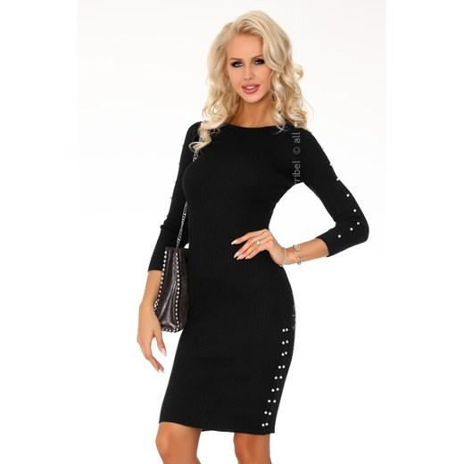 Sukienka Merribel z okrągłym dekoltem Odzież Damska LU czarny QLXZ