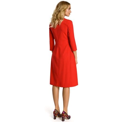 Sukienka Moe z elastanu Odzież Damska XD czerwony LIYA