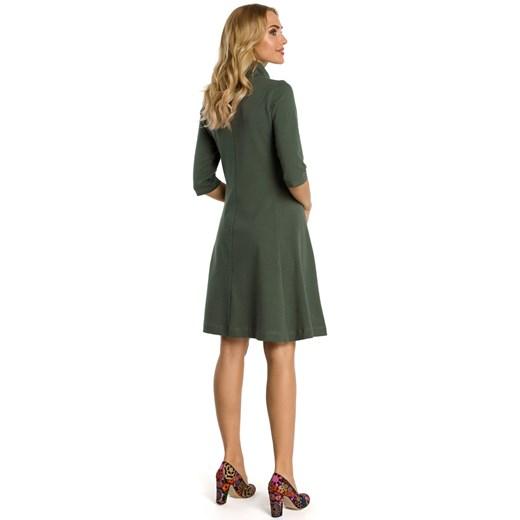 Sukienka Moe z elastanu Odzież Damska ML zielony HDDK