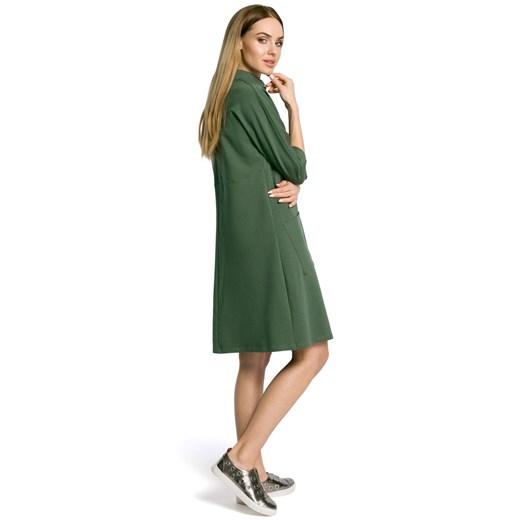 Sukienka Moe na uczelnię Odzież Damska DC zielony XCHJ