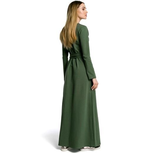 Sukienka Moe Odzież Damska WL zielony FZBH